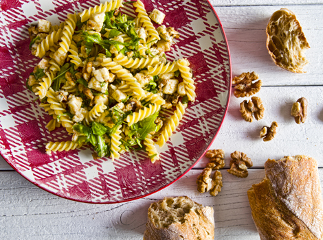 Malma Fusilli con noci e gorgonzola